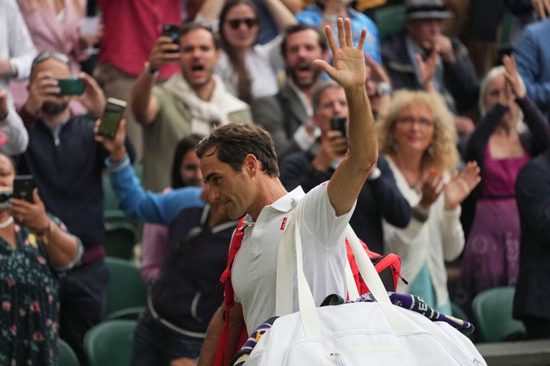 El suizo se despide de la afición tras perder en Wimbledon